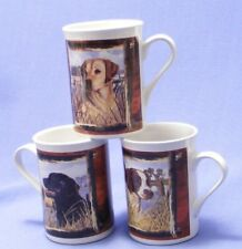 GERMAN POINTER, BLACK/YELLOW LAB ON COLLECTOR CUPS.
