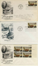 1962 Winslow Homer Famous Artist First Day of Issue Covers Gloucester PM- #2202