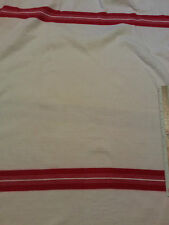 """Thermal Weave Cream Colored Stretch Fabric With Bold Red Stripes Per Yard x 49"""""""