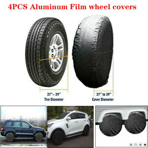"""4xWaterproof Wheel Tire Covers Protector For RV Trailer Camper Car SUV 26""""-27''"""