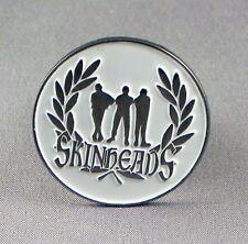 SKINHEAD - PIN BADGE - SKINS REBELLION REBEL    (NB-26)