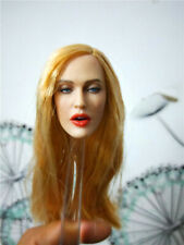 1/6 Female Head Sculpt Open mouth Beauty Curly Blond Hair Head Fit 12'' Body Toy