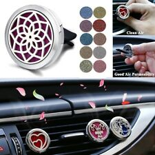 Stainless Steel Aromatherapy Car Essential Oil Diffuser Vent Clip Air Freshener
