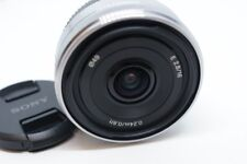 Silvery Sony SEL16F28 16mm f/2.8 Wide Angle E-mount Lens For NEX 3 5 6 7 A6000