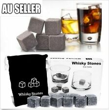 9pcs Whiskey Stone Ice cube Reusebale Icecubes Drinks Cooler Whisky Scotch Party