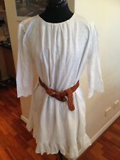 Band Of Outsiders Stunning Cotton Embroidered Dress - Size 4