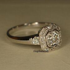7 MM Forever Off White Moissanite Engagement Ring 925 Sterling Silver Size 8