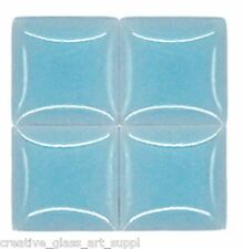 50 - 3/8 inch ICE BLUE Ceramic Mosaic Tiles