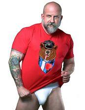Gay Bear T Shirt 100% Cotton, Basic Tee, Bare Beef,  Leather Bear T Shirt.