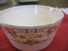 "VINTAGE  WHITE BOWL FLORAL DESIGN  CHINA 4.5"" DIAMETER  2.5"" deep"