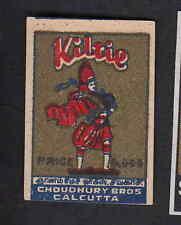 Ancienne   étiquettes allumettes  Inde  BN6894 Kilte Homme