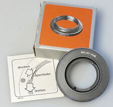 (PRL) ROLLEI ANELLO ADATTATORE BAYONET M42 VITE VIS LENS ADAPTER ADAPTATEUR