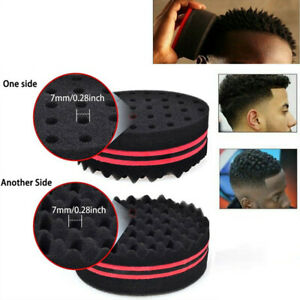 Double Side Barber Hair Brush Sponge Locking Afro Curl Twist Dreads Coil Wave