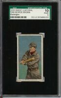 Rare 1909-11 T206 George Brown Sweet Caporal 350 Washington SGC 1