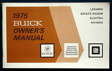 Owner's Manual * Betriebsanleitung 1975 Buick LeSabre  Electra  Riviera (USA)