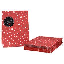 Geschenktüten Set 'Vom Weihnachtsmann' schwarz 24 rote Tüten mit weißen Sternen