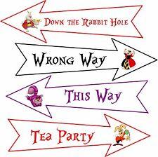 Party Arrows 8 Alice in Wonderland original cartoon assorted colors party decor