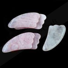 1pcs Rose Quartz Gua Sha Guasha Board Face Body SPA Massage Tool High Quanlity
