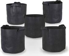 5PCS Grow Bags Fabric Planters Plant Pot Marijuana Balcony Garden -3/5/10Gallon