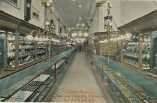 c1908 Amazing Interior Sorensen Jewelers, San Francisco CA Hand Colored Postcard