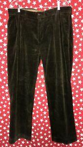 Polo Ralph Lauren Men's Corduroy Ethan Pants Brown Size 36x30 Vintage