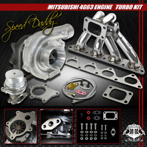T04E 5-PC TURBO KIT TURBOCHARGER+MANIFOLD 02-06 MIT EVO 8/90-99 ECLIPSE/DSM 4G63