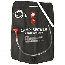 20L Camp Shower Solar Powered FESTIVALS Camping Fishing 5 Gallon Hot Water