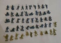 Miniature Toy Soldiers Vintage approx. 1inch tall Plastic -set of 50