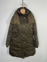 WOMENS NEXT PETITE SIZE UK 12 BROWN CASUAL HOOD PADDED WINTER RAINCOAT JACKET