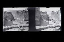 PompeiItalie Italia Plaque de verre stereo NEGATIF 1911