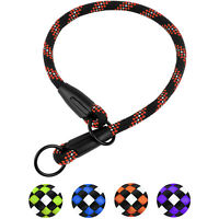 Rope Choke Dog Collar Reflective Training Slip Collars For Dogs