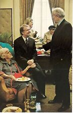 President Jimmy Carter and His Mother at White House Reception Postcard 1977