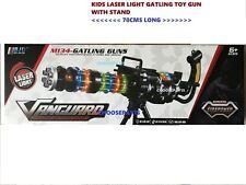 KIDS CHILDREN LASER LIGHT GATLING TOY GUN VIBRATION & STAND 70CMS LONG,BEST GIFT
