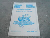 #MISC-3235 - 1967 WISCONSIN NCAA BASKETBALL program BADGERS vs WOLVERINES