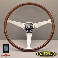 Nardi Steering Wheel Anni '60 Mahogany Wood Glossy Spokes 380mm 5012.39.3000