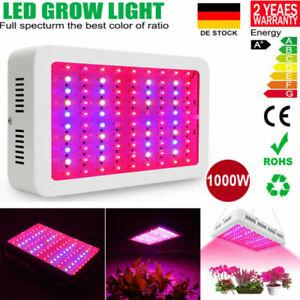1000W LED Grow Light Voll Spektrum Pflanzenlampe Pflanzenleucht für Blume Gemüse
