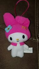 "Hello Kitty Prize McDonalds Happy Meal Toy EXC 4"" plush"