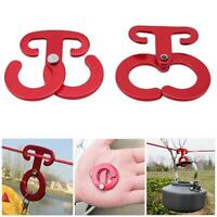 Aluminum Line Tent Rope Hook Cord Hanger Buckle Outdoor Clip Camping Tools Z5I4
