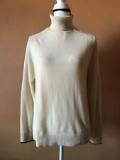 Paul Smith Beige 100% Cashmere Turtleneck Long Sleeve Sweater Size Small