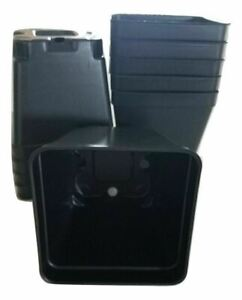 "3.5 inch SQUARE BLACK NURSERY POTS  - SET OF 100 - {3.5"" x 3.5""} plastic flower"
