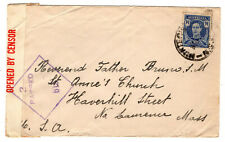 Australia 1942 KGVI WW2 Opened by Censor Cover to USA Hunter District?? Postmark