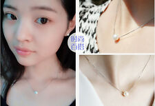 Wholesale Silver Women Elegant 12MM Pearl Bib Choker Statement Clavicle Necklace