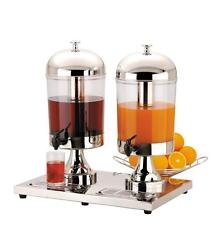 DOUBLE 2 x 8 litres Milk or Juice Dispenser Breakfast Buffet Bars, Hotels & B&Bs