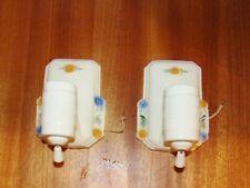 Pr. Art Deco Porcelier Vitreous Porcelain China Bathroom Fixtures w/Pull Chains