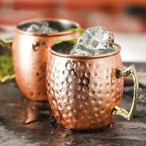 2x Moscow Mule Kupfer Becher Großartig Für Jedes Gekühlte Getränk Mugs Tasse