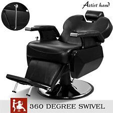 Hydraulic Barber Chair Recline 360 Degree Swiveling Adjustable Height Salon