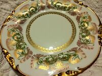 "Jean Pouyat Limoges French Gold Gilt 8.5"" Plate Art Nouveau Thistle POY1 1908 #6"