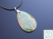 Gota colgante collar de piedras preciosas grandes Unakite Natural Chakra Piedra de Curación Reiki