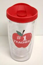 # 1 Teacher Tervis Cup 16 oz. with Red Lid ( keeps drinks hot & cold )