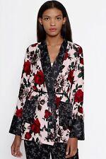 EQUIPMENT Theron Silk Robe Kimono Shirt Jacket in Cosmic Pink Multi Floral XXS